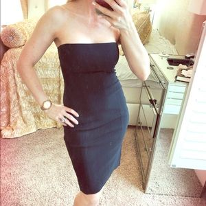 Guess Bodycon Sexy Black Dress Strapless